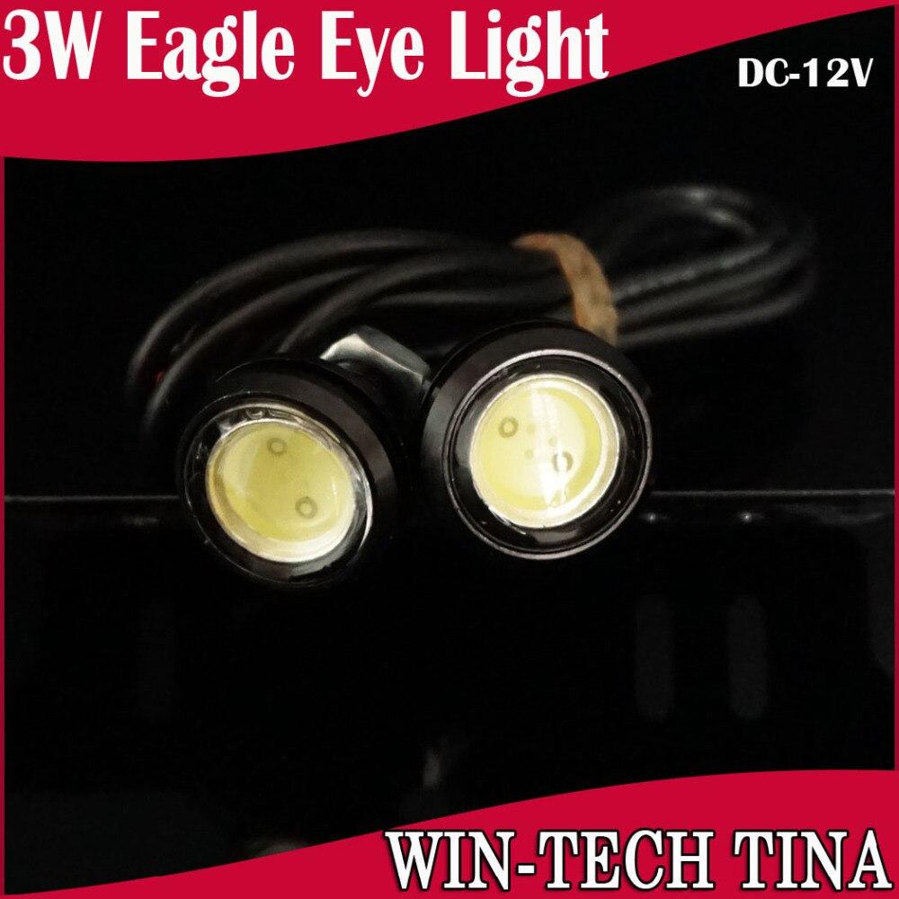 10*3W Black Strobe Flash Eagle Eye Light Led Car Reversing Backup tail Stop Daytime Running IP68 White Blue - Guang Zhou Tina Electronic store