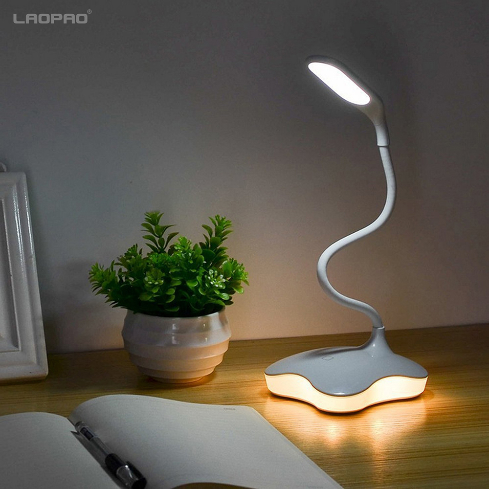 LED Schreibtisch lampe usb 3 Ebene Dimmbare led Tisch Lampe Studie Lesen licht für schlafzimmer Nacht Licht buch licht LAOPAO