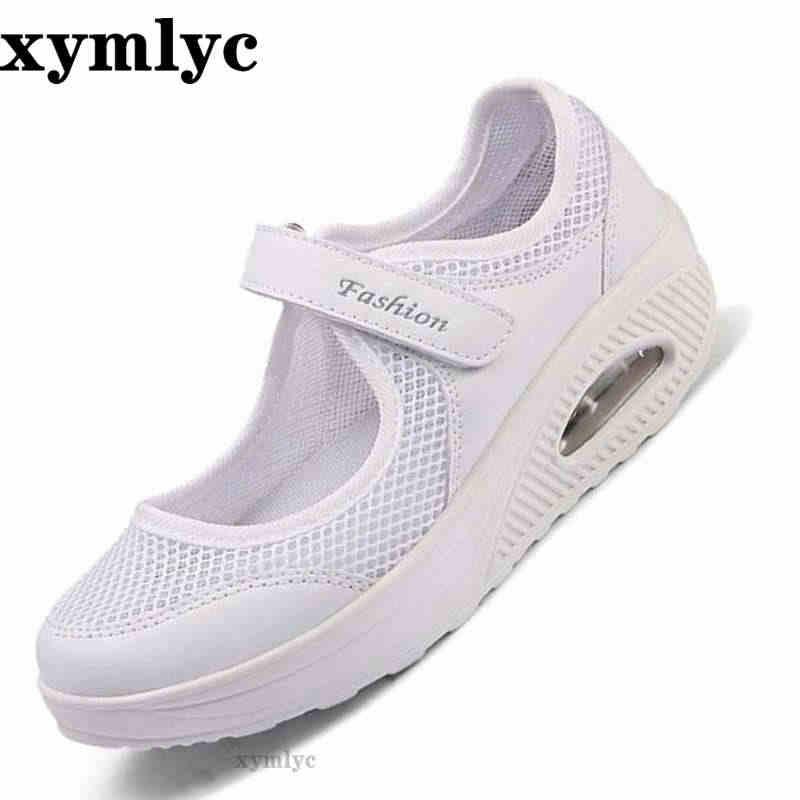 2020 di Modo di estate Delle Donne Piatto Pattini Della Piattaforma Della Donna in Mesh Traspirante Casual Scarpe Mocassino Zapatos Mujer Signore Scarpe Da Barca