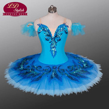 Blue Bird Ballet Costumes Sky Adult Women Bellerina Dancewear  Classical Tutus Professional Tutu LD0027