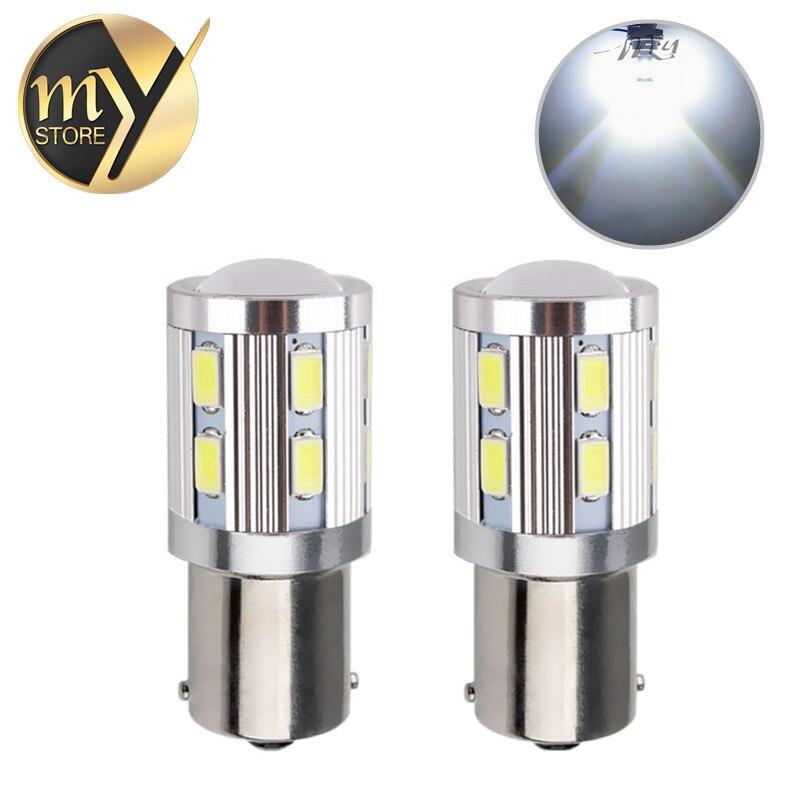 2 adet 1156 BAU15S 12 SMD Samsung 5730 led Yüksek Güç lambası - Araba Farları