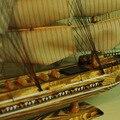 """1 шт. Подарки и Декор 32 """"ручной парусная лодка Подробную Деревянная Модель Морских Декора через EMS доставка."""