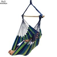 Outdoor Large New Rope Spaces Comfort Hanging Chair Soft Seaside Stripe Hammock