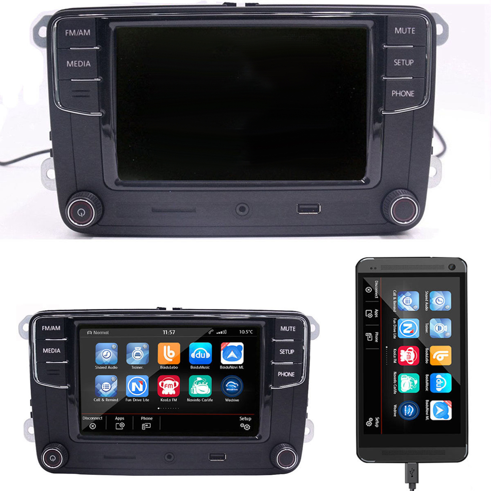 6RD035187A 6.<font><b>5</b></font>' RCD330 Plus MIB Radio <font><b>USB</b></font> AUX Bluetooth RCD510 RCN210 For VW Polo <font><b>Golf</b></font> <font><b>5</b></font> 6 Passat B6 B7 CC Tiguan Jetta MK5 MK6 image