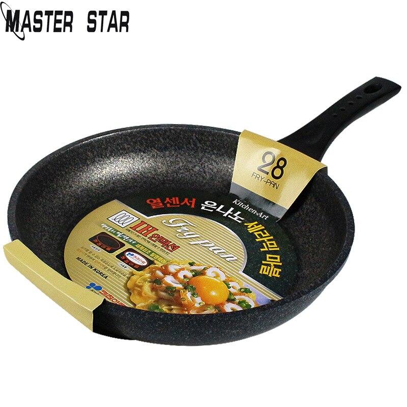 Master Star Korean Style Chinese Medical Stone Frying Pans Egg Steak Non-stick Skillets