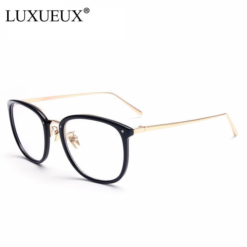 2016 New Trend Retro Rivet Round Eyewear Frame Brand Design Computer Eyeglasses Unisex Optical Frame Clear Lens Spectacle