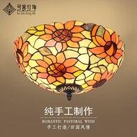 Europäische garten balkon schlafzimmer flure lobby decke lampen Tiffany kunst LED korridor lampe