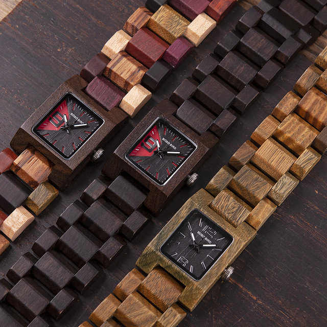 25mm BOBO BIRD Small Women Watches Wooden Quartz Watch Timepieces Best Girlfriend Gifts Relogio Feminino in wood Box W-S02 2