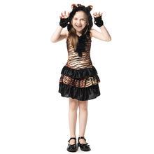 Детский костюм тигра в виде животного для косплея милый наряд