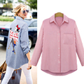 Plus Size Women Blouses Shirts 5xl Chiffon Blouses Cardigan Turn-down Collar Full Sleeves Printed Shirts Womens Tops Summer 2016