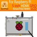 Raspberry pi 3 модель B/2B/B +/+ 5 inch HDMI GPIO Резистивный Сенсорный Экран ЖК-дисплей 5 дюймов Сенсорный Экран