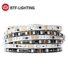 Tira de led de 5m ws2811 dc12v, ultra brilhante, altamente eficiente, 5050 smd, rgb, leds, alta luz endereçável 30/48/60leds/m branco/preto pcb