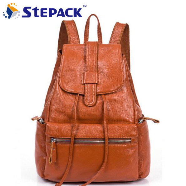 Wholesale Price Fashion Genuine Leather Student Backpacks Women's Shoulder Bags Cowhide School Satchels High Quality WBG1054 kindergarten school furniture school furniture price list kids wholesale price with free shipment 50 chairs to vietnam