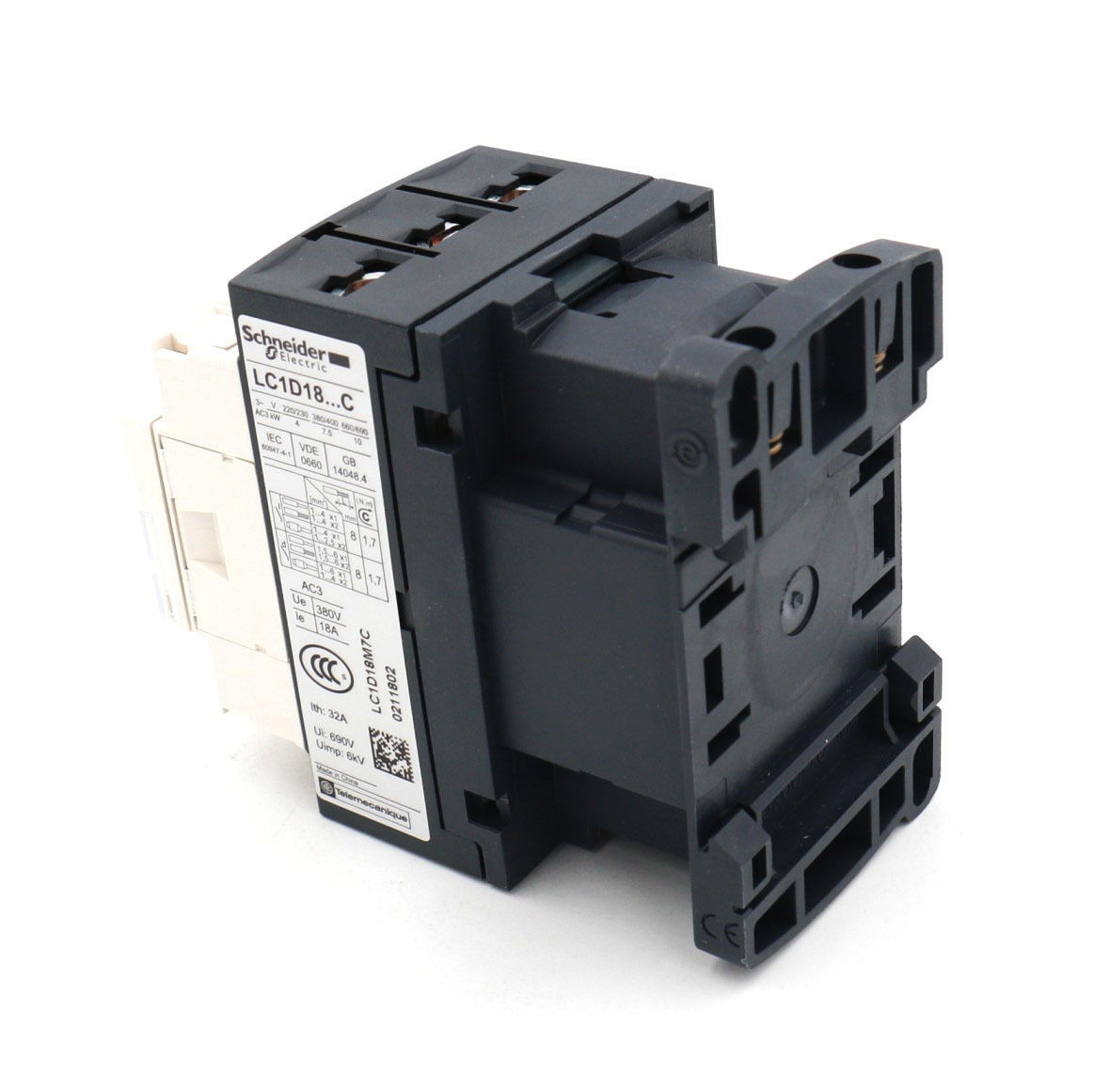 Schneider Lc1d18 Motor Control Ac Contactor 32 Amp 3 Phase 220v 50 240 Wiring 60hz Coil In Contactors From Home Improvement On Alibaba Group