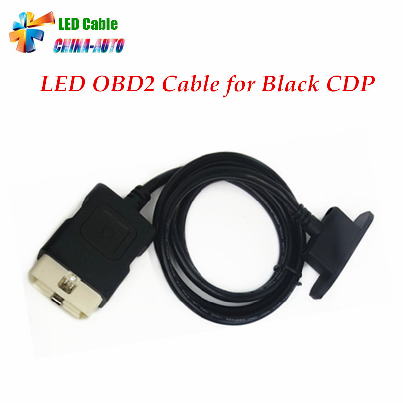 Best Quality OBD II Car Cable LED OBD2 Cable Suitable for red and black TCS CDP PRO PLUS