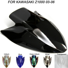 все цены на Windshield For Kawasaki Z1000 Z 1000 2003 2004 2005  2003-2006 Double Bubble Windscreen Wind Deflectors Motorcycle Motorbike онлайн