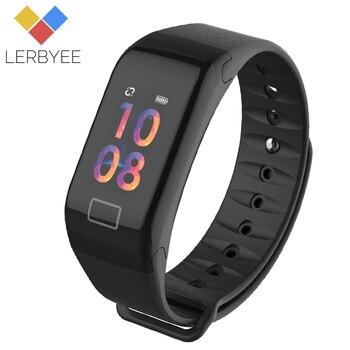 Lerbyee カラー画面 F1S フィットネストラッカー血圧スマートブレスレット睡眠モニターコールリマインダ男性 iphone 7 Huawei 社