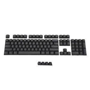 Image 5 - Black White Miami PBT  Double Shot 104 108 Side lit Shine Through Translucent Backlit keycaps For MX Mechanical Keyboard