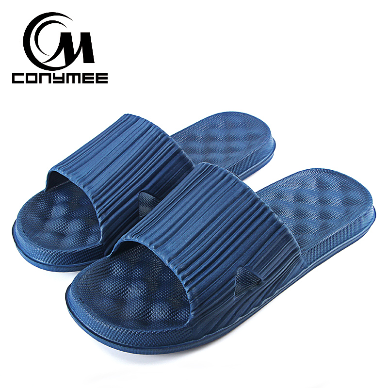 CONYMEE Summer Sandals Men Shoes 2018 Fashion Zapatos Hombre Indoor Home Slippers Male Bath Sandalias Flip Flops Massage Slipper