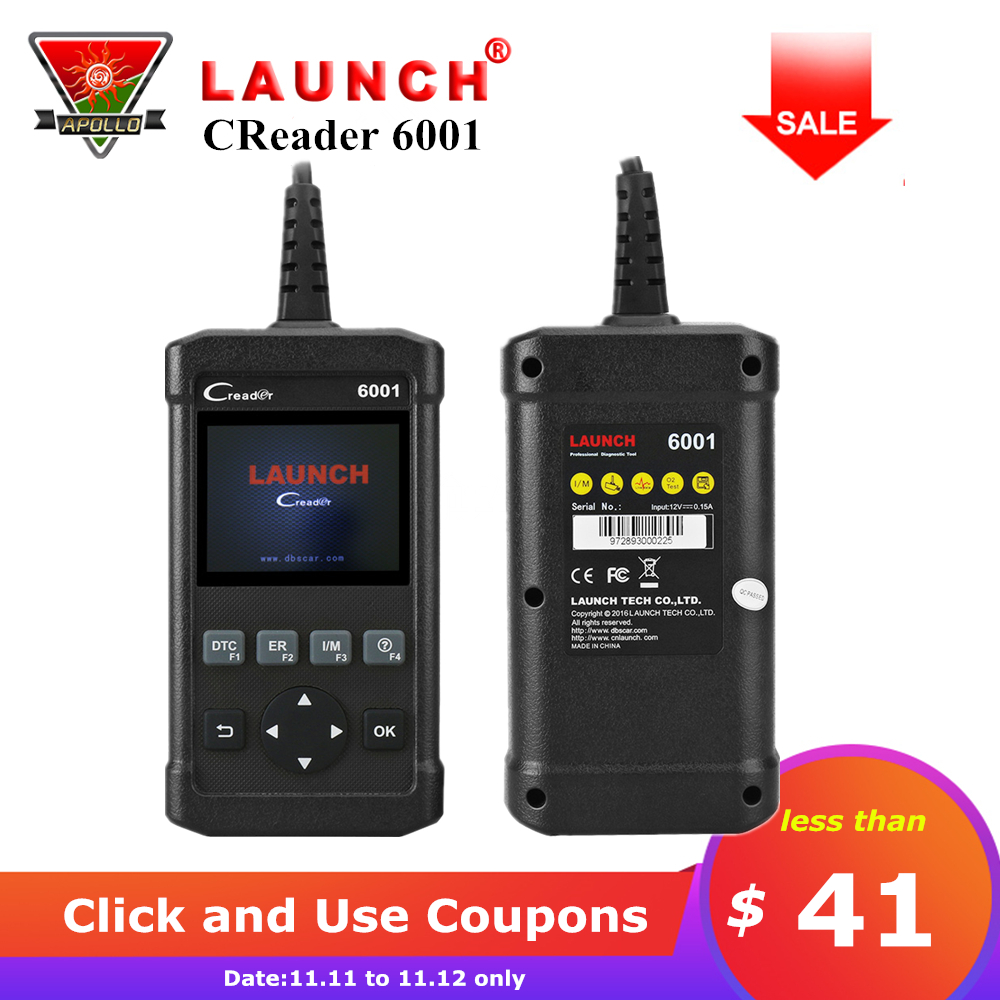 цена Launch CReader 6001 OBDII OBD2 Scan Code Reader Automotive OBD 2 Diagnostic Tools DIY Scanner CR6001 Free Update Online