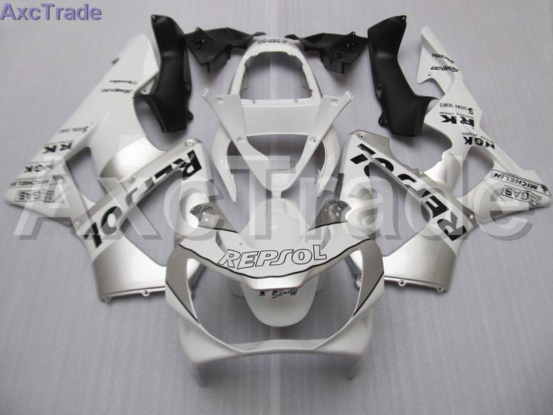 Мотоцикл обтекатель комплект для CBR 929 900 RR 929RR 00 01 900 2000 2001 CBR900RR комплект обтекателей Высокое качество ABS Пластик Silever