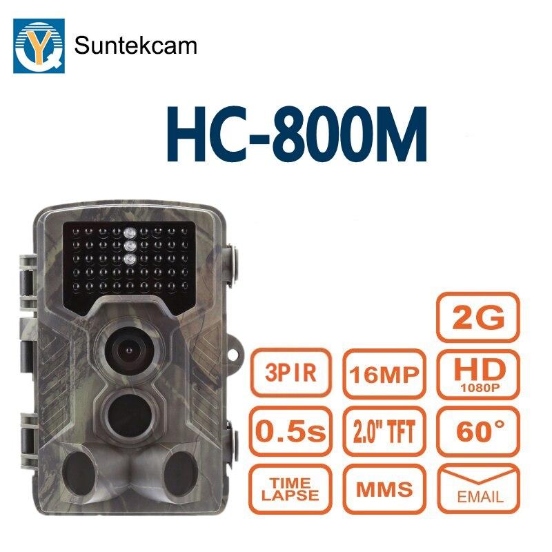 Vida Selvagem caça Câmera Trilha SUNTEKCAM HC-800M 2G MMS Armadilha Foto 16MP de Vigilância de Vídeo de Visão Noturna Digital de animais à prova d' água