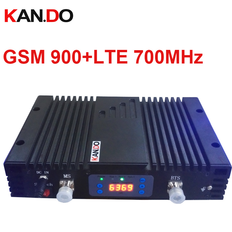 70dbi GSM+4G DUAL Band Repeater AGC/MGC 900MHZ+700MHz Signal Booster GSM Repeater band 13 Lte 4G BOOSTER HIGH quality