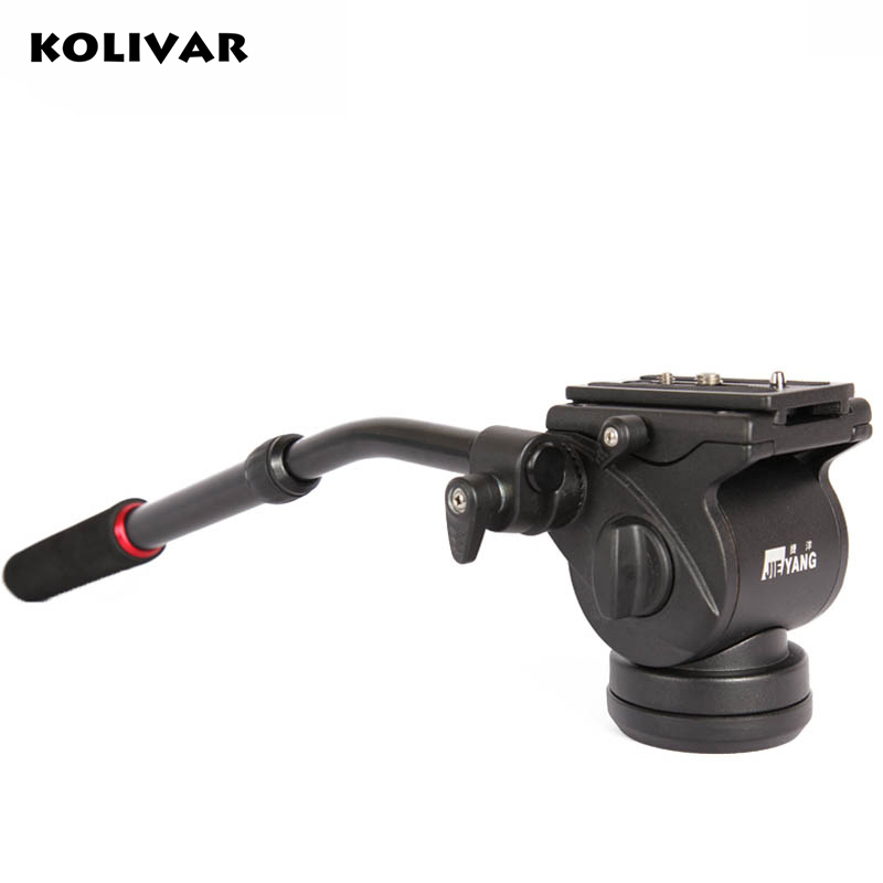 KOLIVAR JY0506H Video Camera Damping Fluid Tripod Head Hydraulic Head Panoramic Head for Slider Monopod Camera Shooting Video 360┬░ two handle hydraulic damping three dimensional tripod head for camera black