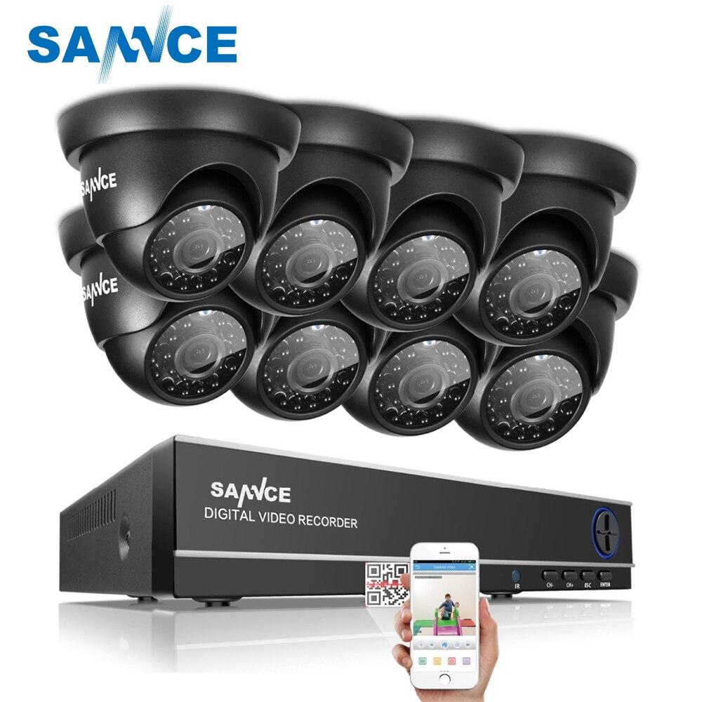 SANNCE 8CH 1080N DVR 1080 P HDMI NVR CCTV Système 8 pcs 720 P TVI Sécurité Caméras IR Intérieur Extérieur CCTV Vidéo Surveillance Kit