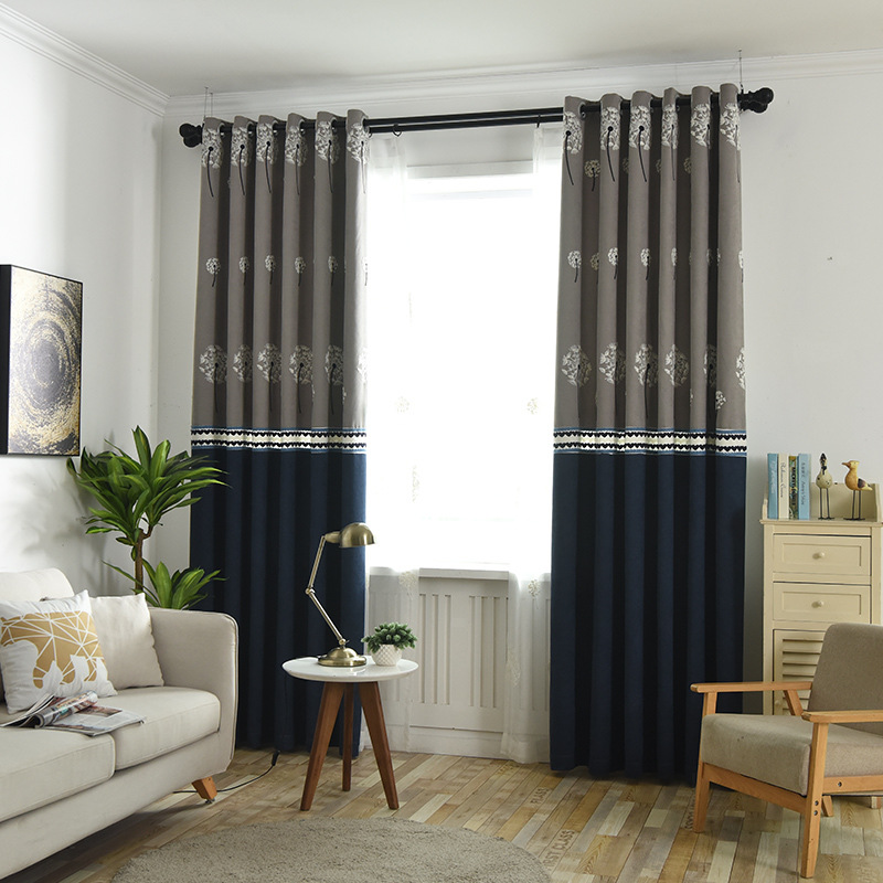 US $13.2 40% OFF|[byetee]Grey Hot Selling Modern Window Door Curtain Tulle  Living Room Blackout Kitchen Curtains Drapes for Balcony-in Curtains from  ...