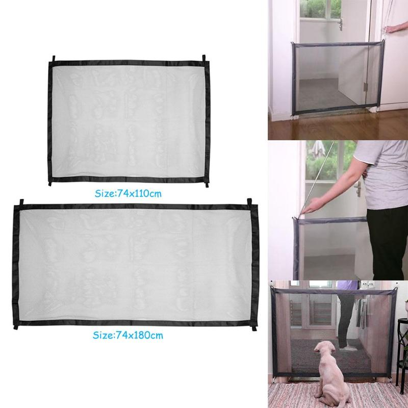 Dog Fences Mesh Magic Gate Pet Door Gate For Dogs Safe Guard And Install Pet Gate Dog Safety Enclosure