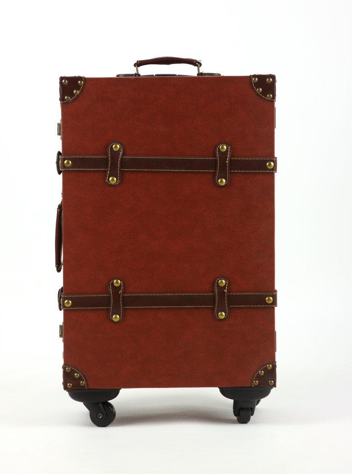 Online Buy Wholesale leather trolley luggage from China leather ...