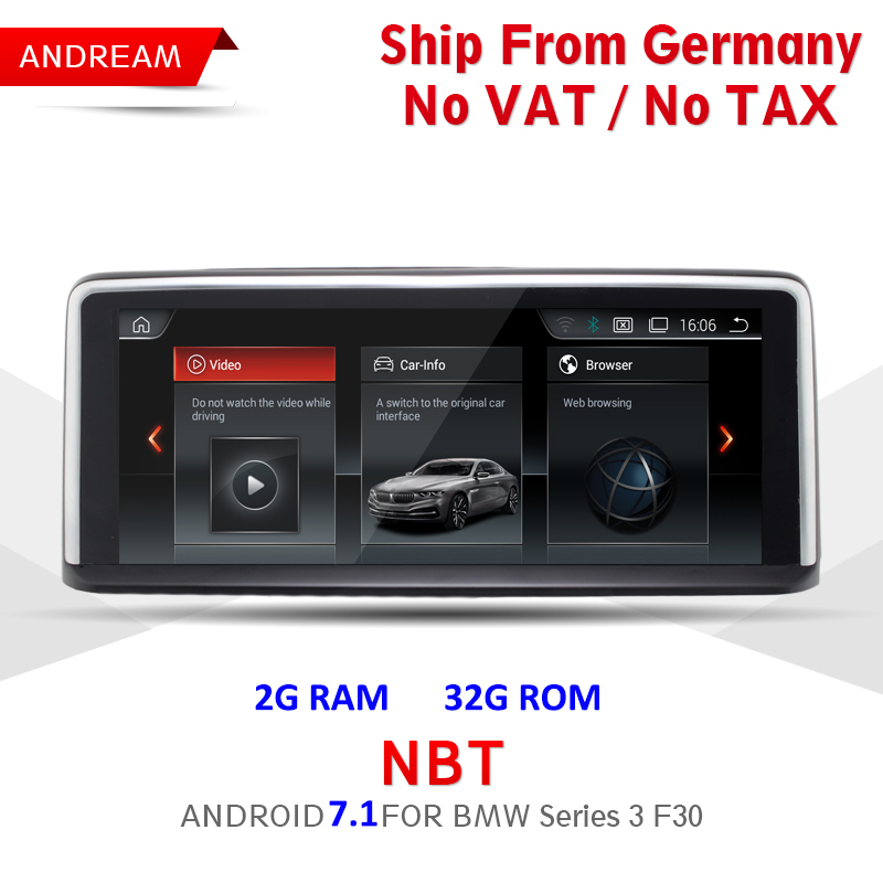 10.25 Android Screen ID6 Interface Vehicle multimedia player For BMW Series 3 F30 F31 F32 Bluetooth gps navigation Wifi EW960B