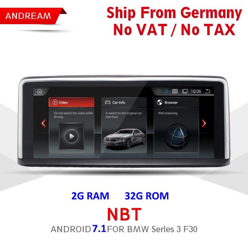 10.25 Android Tela ID6 Veículo Interface De player multimídia Para BMW Série 3 F30 F31 F32 Bluetooth navegação gps Wifi EW960B