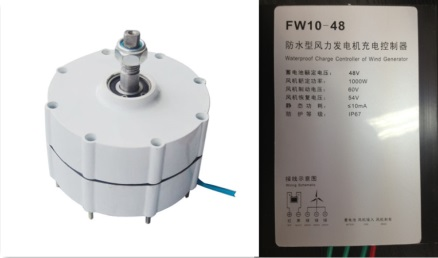 Hot Sale!  600w 48v permanent magnet generator pmg with controller hot sale cayler