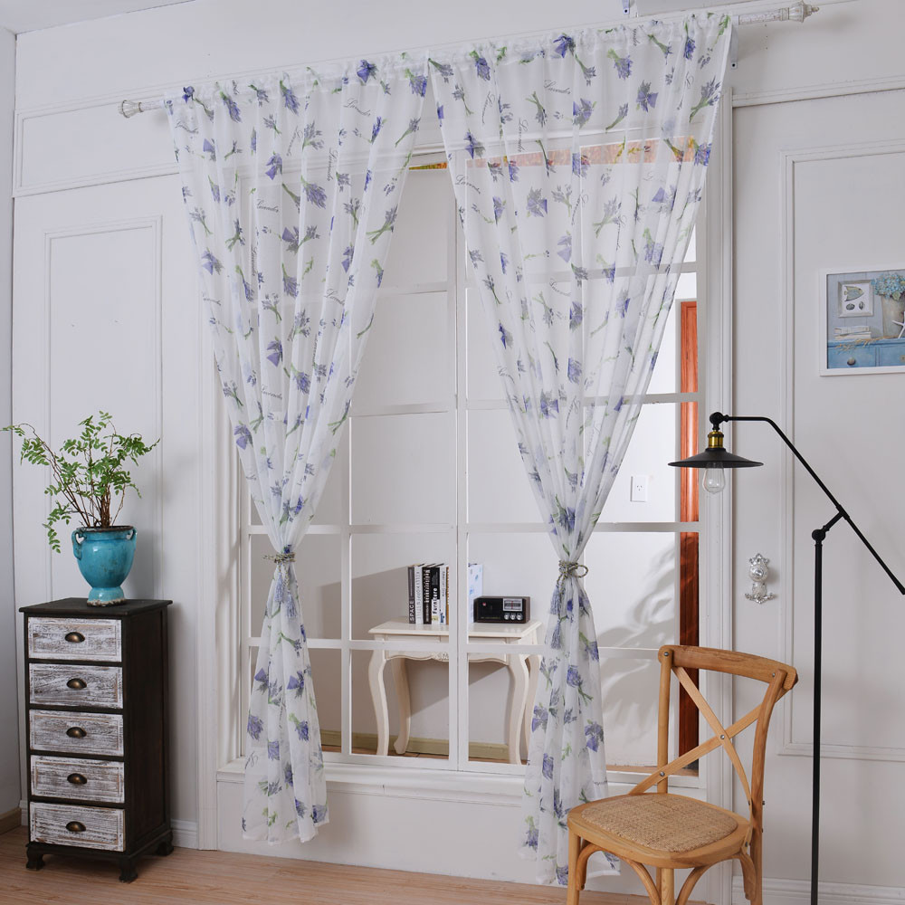Valance curtains for living room - 2017 New Arrival 1 Pc Lavender Tulle Door Window Curtain Drape Panel Sheer Scarf Valances Curtains