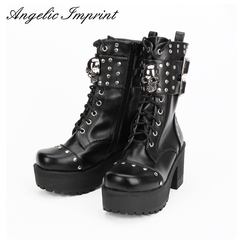 Aliexpress Com Buy Fashion Rivet Skull Gothic Punk Rock