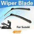 "Car-styling 3 unids 19 ""+ 19"" + 15 ""para suzuki vitara grand vitara xl-7 limpiaparabrisas cuchillas parabrisas bracketless sin marco de goma suave"