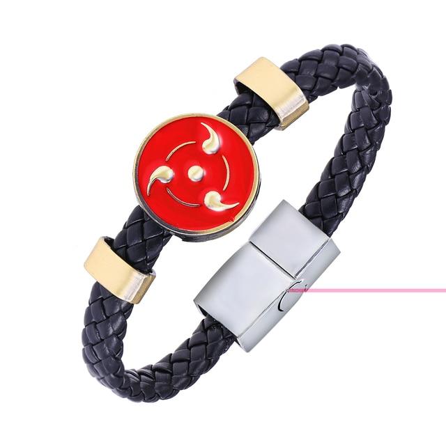 Naruto One Piece Skull Leather Bracelet Jewelry