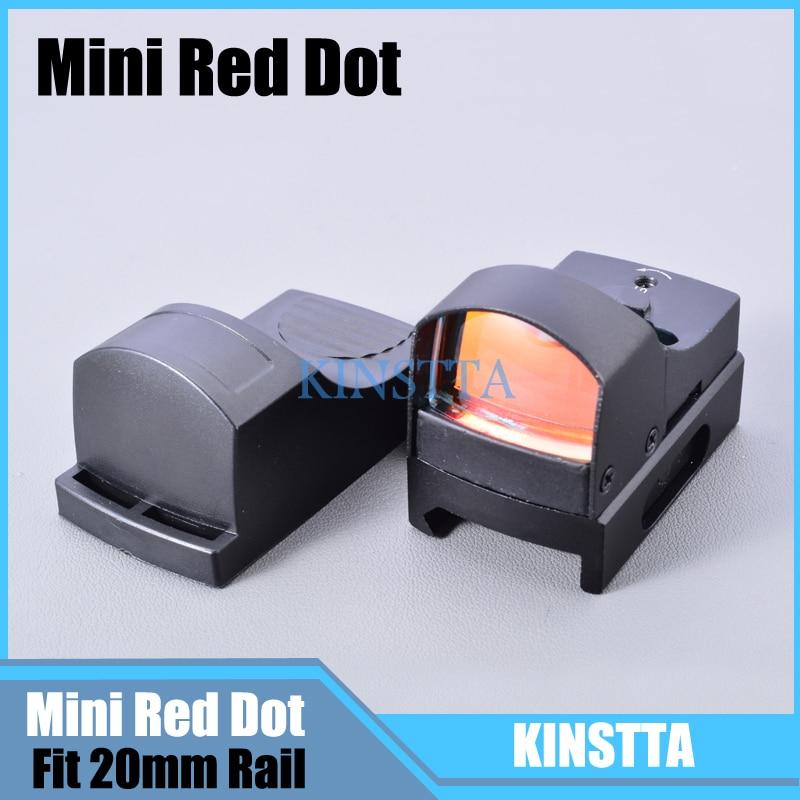 Hunting Mini Holographic Dot Reflex Sight Light 25mm Lens Micro Red Dot Scope Sight Fit 20mm Weaver Picatinny Mount w/Sunshade