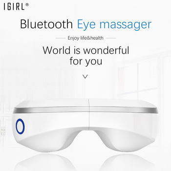 Wireless Air Pressure Eye Massager Adjustable Stress Relief Goggles Magnets Vibration Acupoint Massage Machine Eye Care Tool
