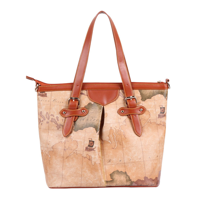 ФОТО 2015 new designer fashion women's world map handbag vintage female casual shoulder bags for retail & wholesale free ship #236