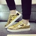 2017 Primavera Verano Nuevos hombres zapatos del tablero de cuero laca resistente al Desgaste respirable no equilibrado slipcasual zapatos salvajes masculino