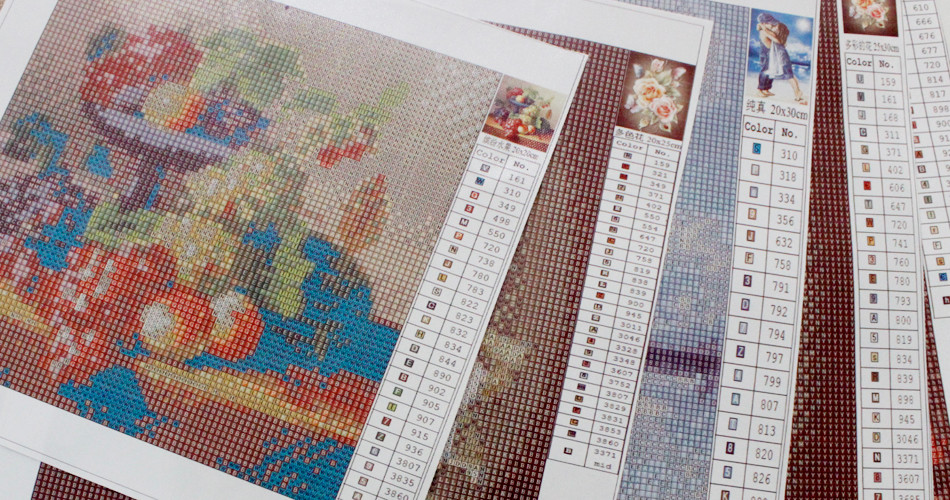 Painting Diamond Cross stitch kit Diamond embroidery Patisserie decoration room 3d pictures Full mosaic squares in Diamond Painting Cross Stitch from Home Garden