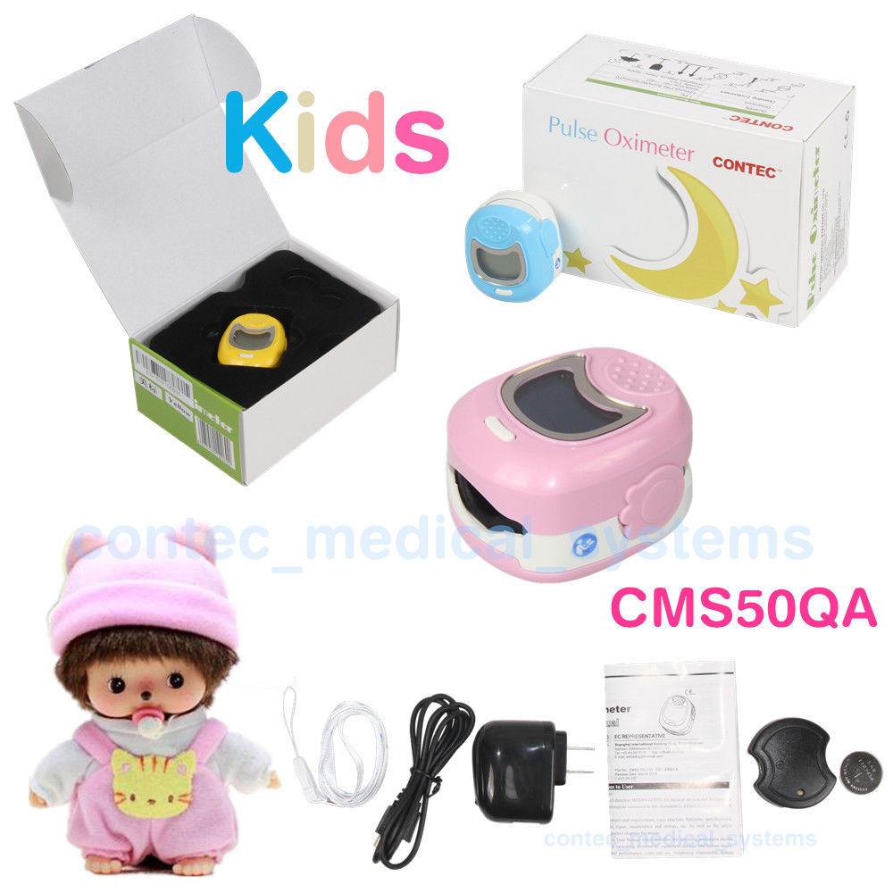 ФОТО Pediatric/Children/Kids/OLED Pulse Oximeter SPO2 pulse oxygen saturation Battery LCD display CMS50QA, SpO2 Oxygen, 3 colours