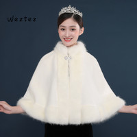 Bridal Wraps Wedding Jacket Shawls Fur Capes Winter Warm Faux Fur for Women Bride Accessories PJ53