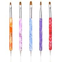 5Pcs/Set New Vogue 2Way Marbleizing Dotting Pen Tips Manicure Tools Painting Pen Brush Nail Art Painting Makeup Decoration Nail Art Accessories