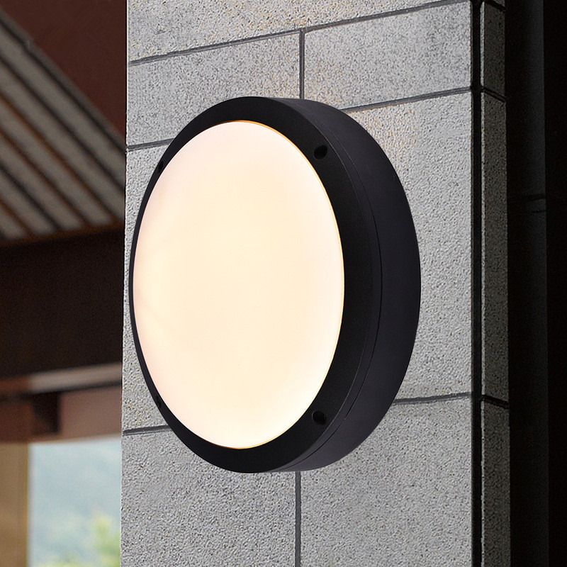 Round Flat Led Light For Outside Porch Ceiling Waterproof