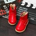 2016 New girls Winter Cotton Boots Children Fashion Waterproof Warm Shoes Kids Baby Rivet Boot Bow Soft Bottom Prewalker