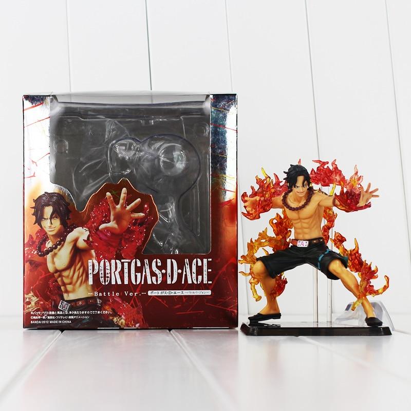 Model-Doll Collection Battle-Ver Ace-Figure Portgas-D Anime One-Piece Fire-Ace 12cm